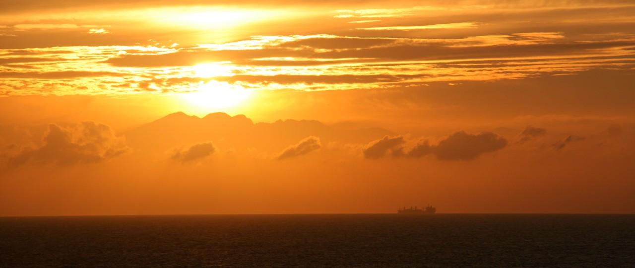 Sunset above Japan